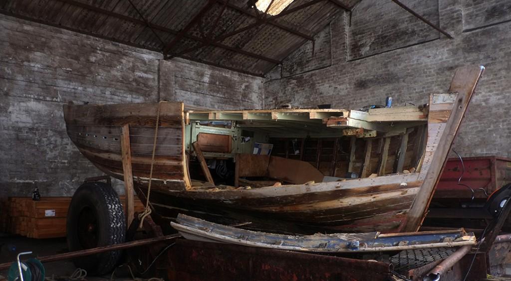 Разборка лодки