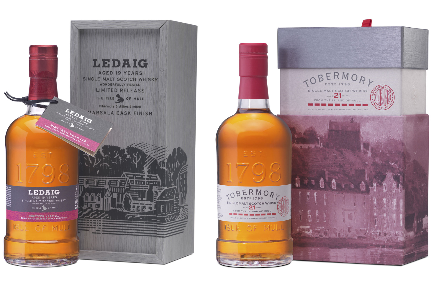 Ledaig 19 Year Old - Tobermory 21 Year Old