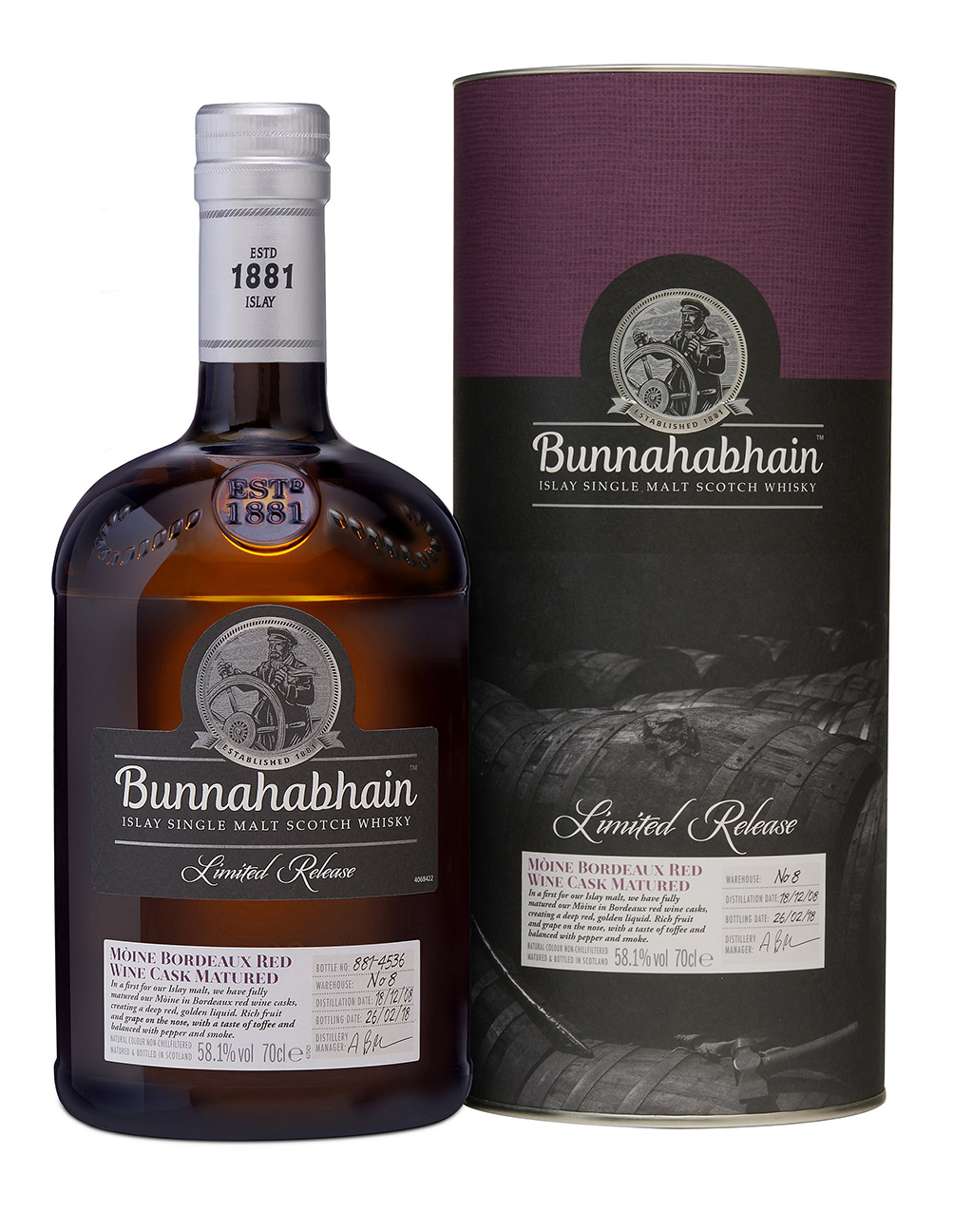 Bunnahabhain 2008 Mòine Bordeaux Red Wine Cask Matured